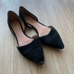 Madewell D'orsay Black Suede Flats